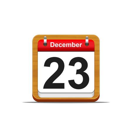 Illustration elegant wooden calendar on white background Stock Illustration - 16182193