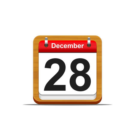 Illustration elegant wooden calendar on white background  Stock Illustration - 16182201