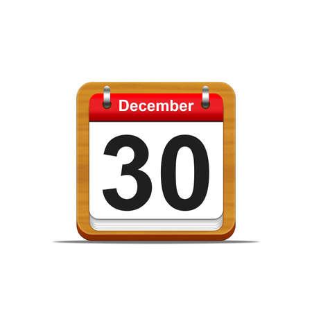 Illustration elegant wooden calendar on white background Stock Illustration - 16182195