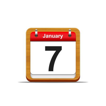 Illustration elegant wooden calendar on white background Stock Illustration - 16182100
