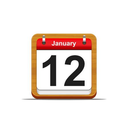 Illustration elegant wooden calendar on white background Stock Illustration - 16182115