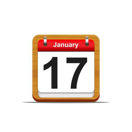 Illustration elegant wooden calendar on white background Stock Illustration - 16182232