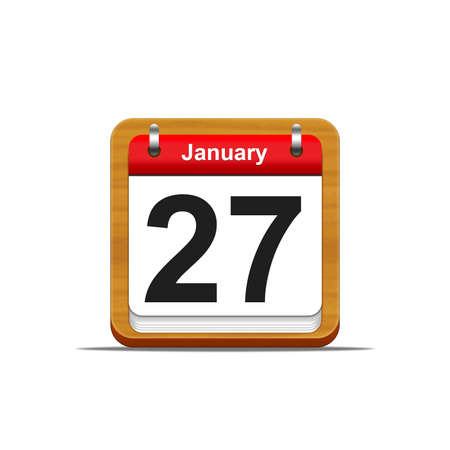 Illustration elegant wooden calendar on white background Stock Illustration - 16182267
