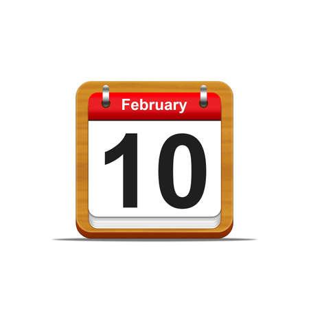 Illustration elegant wooden calendar on white background Stock Illustration - 16182266