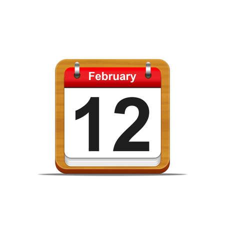 Illustration elegant wooden calendar on white background  Stock Illustration - 16182261