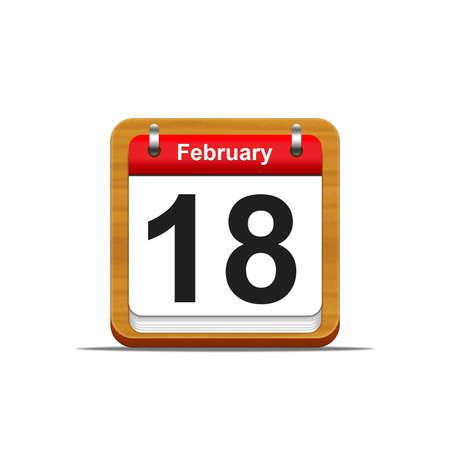 Illustration elegant wooden calendar on white background Stock Illustration - 16182290