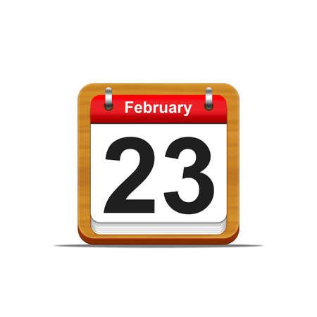 Illustration elegant wooden calendar on white background Stock Illustration - 16182303