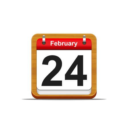 Illustration elegant wooden calendar on white background  Stock Illustration - 16182272