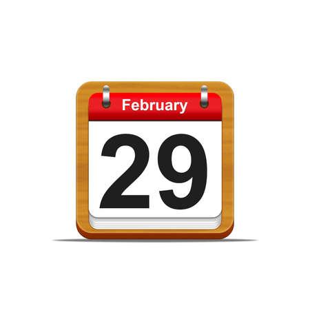Illustration elegant wooden calendar on white background Stock Illustration - 16182307
