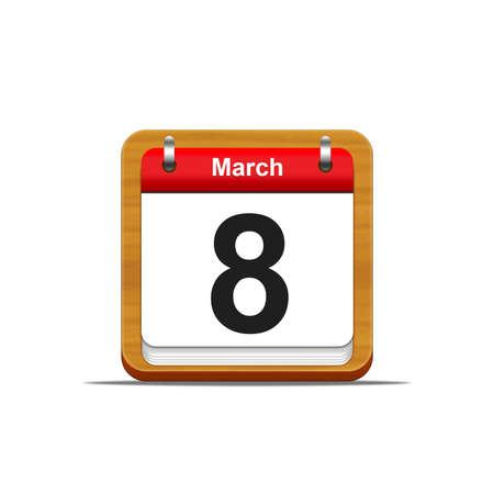 Illustration elegant wooden calendar on white background Stock Illustration - 16182246