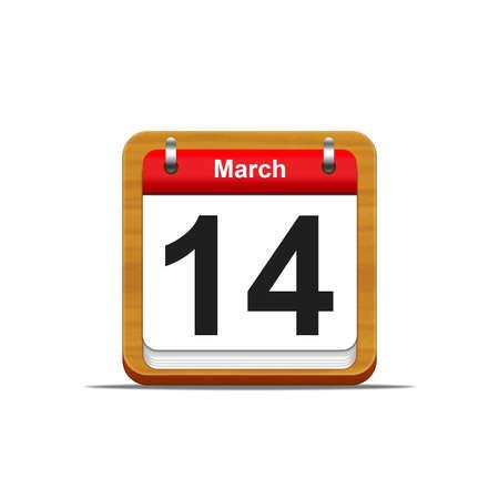 Illustration elegant wooden calendar on white background Stock Illustration - 16182219