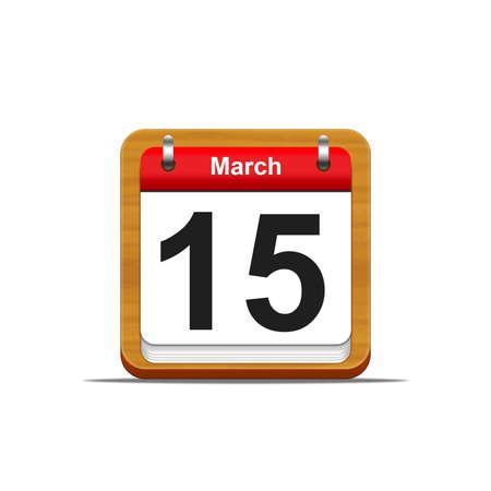 Illustration elegant wooden calendar on white background  Stock Illustration - 16182241