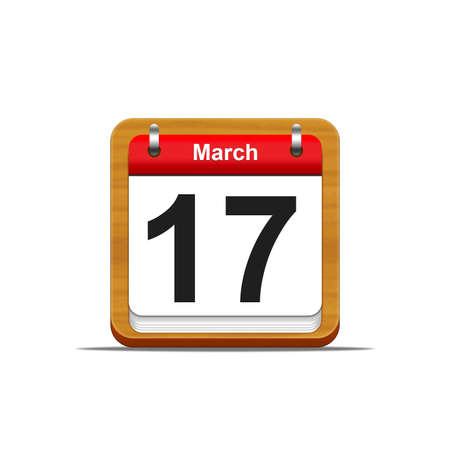 Illustration elegant wooden calendar on white background Stock Illustration - 16182221