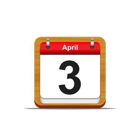 Illustration elegant wooden calendar on white background Stock Illustration - 16182227