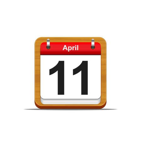 Illustration elegant wooden calendar on white background Stock Illustration - 16182206