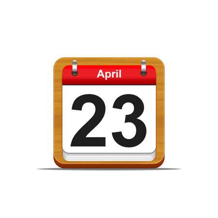 Illustration elegant wooden calendar on white background Stock Illustration - 16227089