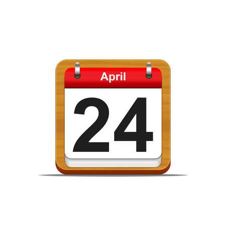 Illustration elegant wooden calendar on white background Stock Illustration - 16227010
