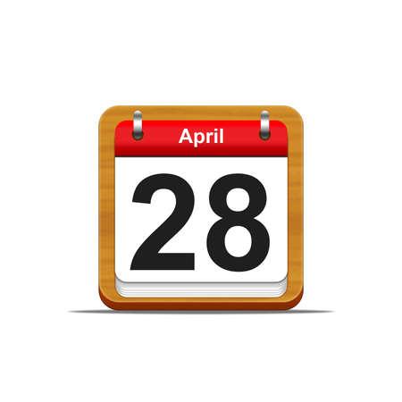 Illustration elegant wooden calendar on white background Stock Illustration - 16227094