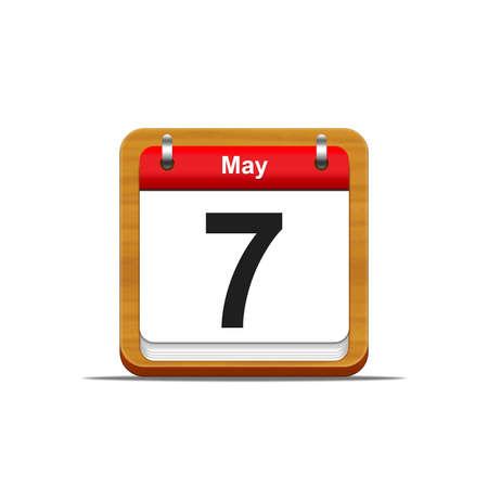 Illustration elegant wooden calendar on white background Stock Illustration - 16226691