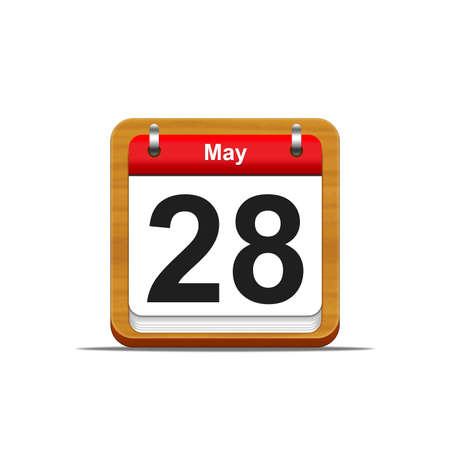 Illustration elegant wooden calendar on white background Stock Illustration - 16227093