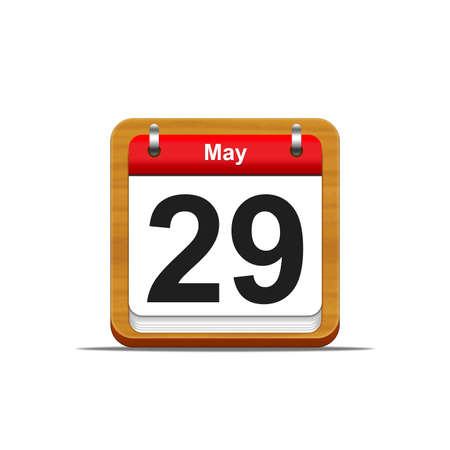 Illustration elegant wooden calendar on white background Stock Illustration - 16227105