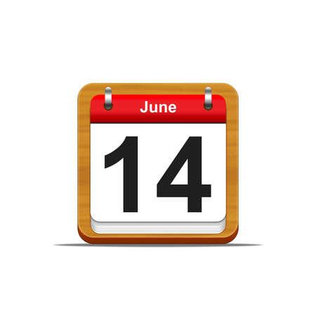 Illustration elegant wooden calendar on white background Stock Illustration - 16227121
