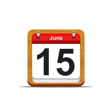 Illustration elegant wooden calendar on white background  Stock Illustration - 16227133