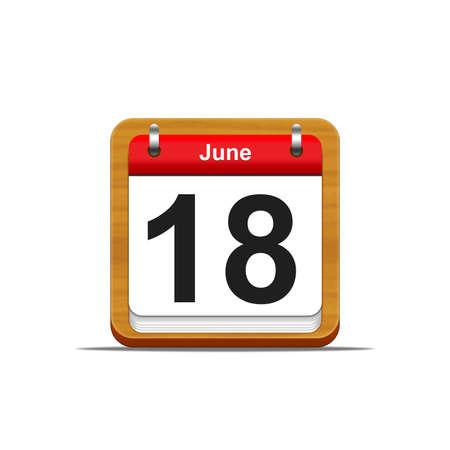 Illustration elegant wooden calendar on white background Stock Illustration - 16227165