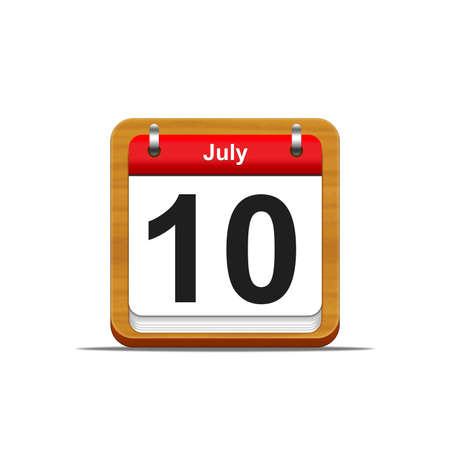 Illustration elegant wooden calendar on white background Stock Illustration - 16227130