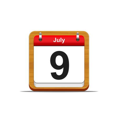 Illustration elegant wooden calendar on white background Stock Illustration - 16227123