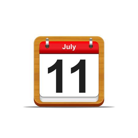 Illustration elegant wooden calendar on white background Stock Illustration - 16227099