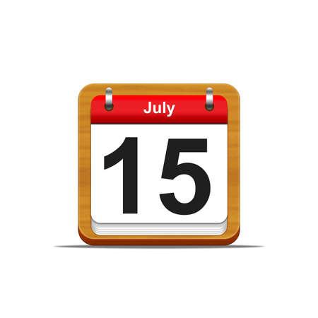 Illustration elegant wooden calendar on white background  Stock Illustration - 16227131