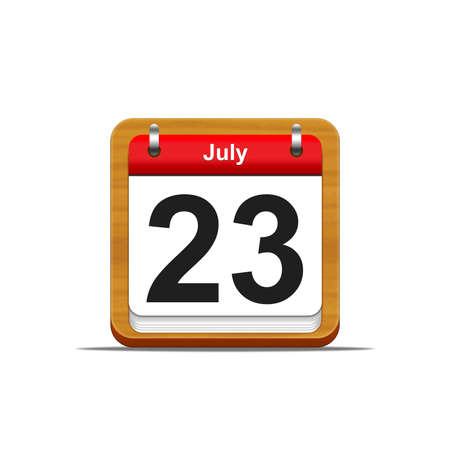 Illustration elegant wooden calendar on white background  Stock Illustration - 16227172