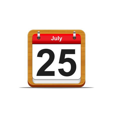 Illustration elegant wooden calendar on white background Stock Illustration - 16227168