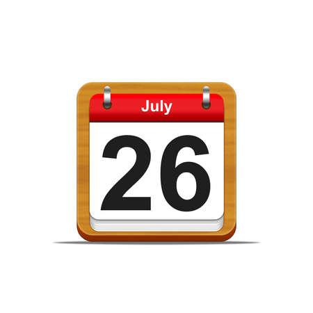 Illustration elegant wooden calendar on white background Stock Illustration - 16227174