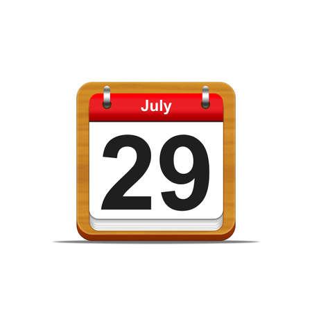 Illustration elegant wooden calendar on white background Stock Illustration - 16227200