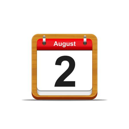 Illustration elegant wooden calendar on white background Stock Illustration - 16227198