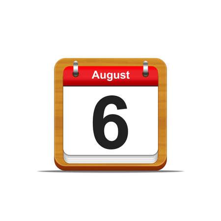 Illustration elegant wooden calendar on white background Stock Illustration - 16227231