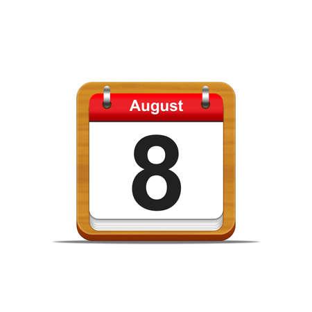 Illustration elegant wooden calendar on white background  Stock Illustration - 16227236