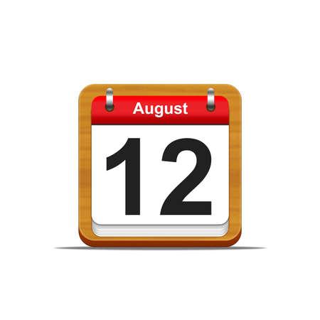 Illustration elegant wooden calendar on white background  Stock Illustration - 16227239