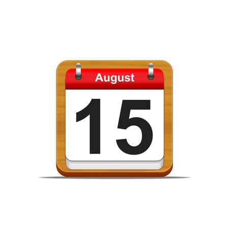 Illustration elegant wooden calendar on white background Stock Illustration - 16227254