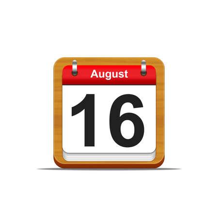 Illustration elegant wooden calendar on white background  Stock Illustration - 16227261