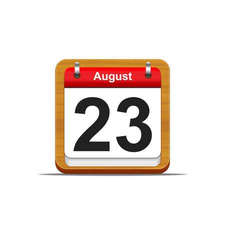 Illustration elegant wooden calendar on white background Stock Illustration - 16227284