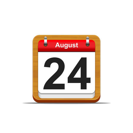 Illustration elegant wooden calendar on white background  Stock Illustration - 16227255