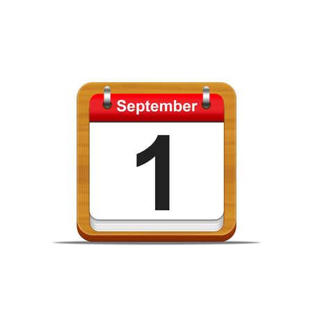 Illustration elegant wooden calendar on white background  Stock Illustration - 16227197