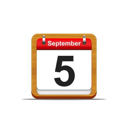 Illustration elegant wooden calendar on white background Stock Illustration - 16227257