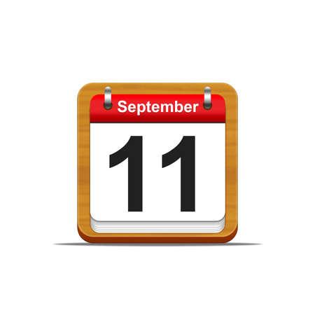 Illustration elegant wooden calendar on white background Stock Illustration - 16227246