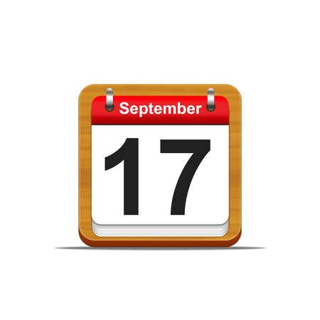 Illustration elegant wooden calendar on white background Stock Illustration - 16227259