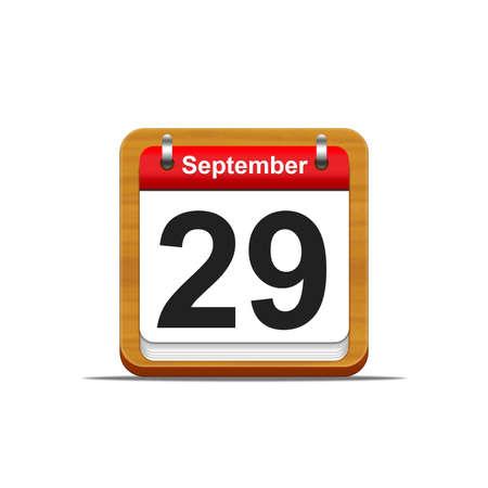 Illustration elegant wooden calendar on white background Stock Illustration - 16227323