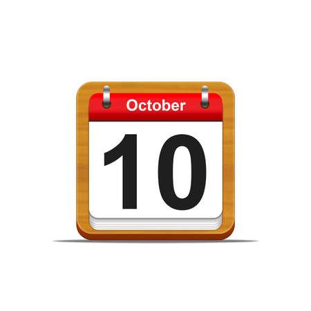 Illustration elegant wooden calendar on white background Stock Illustration - 16227265